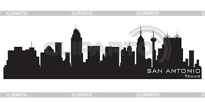 San Antonio skyline | Klipart wektorowy |ID 3201395
