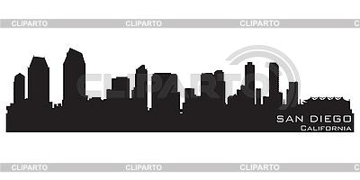 San Diego skyline | Klipart wektorowy |ID 3201397