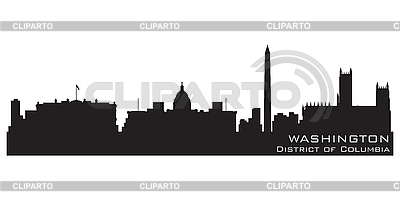 Washington DC skyline | Stock Vector Graphics |ID 3201413