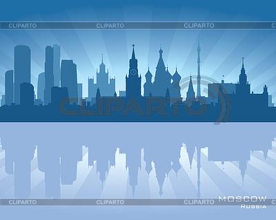莫斯科的天际线 | 向量插图 |ID 3319051