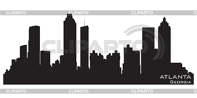 Atlanta, Georgia skyline. Detailed silhouette | Stock Vector Graphics |ID 3319057