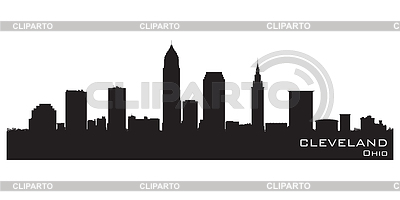Cleveland, Ohio skyline. Detailed silhouette | Stock Vector Graphics |ID 3319061