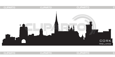Cork, Ireland skyline. Detailed silhouette | Stock Vector Graphics |ID 3319063