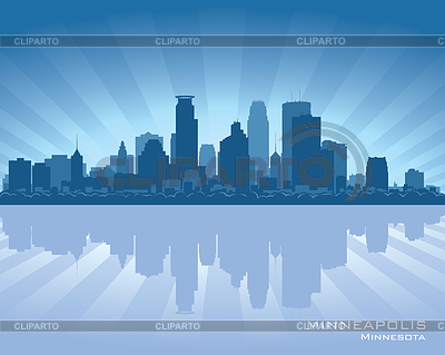 Minneapolis, Minnesota skyline | Stock Vector Graphics |ID 3338535