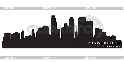 Minneapolis skyline | Stock Vector Graphics |ID 3338537