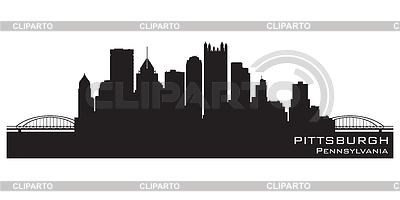 Pittsburgh skyline | Stock Vector Graphics |ID 3338542