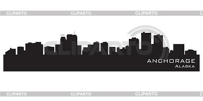 Anchorage, Alaska skyline   Stock Vector Graphics  ID 3345800