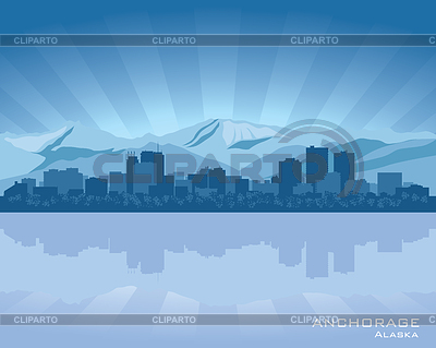 Anchorage, Alaska skyline | Stock Vector Graphics |ID 3345801