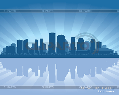 New Orleans, Louisiana skyline | Stock Vector Graphics |ID 3345804