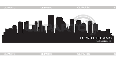 New Orleans, Louisiana skyline. Detailed silhouette | Stock Vector Graphics |ID 3345805