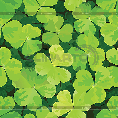 Nahtloses Muster mit Kleeblättern | Stock Vektorgrafik |ID 3155555