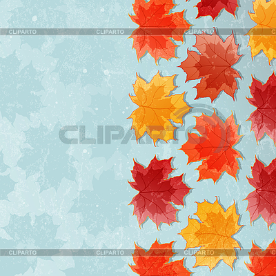 Autumn background with maple leaves | Stock Vector Graphics |ID 3357316