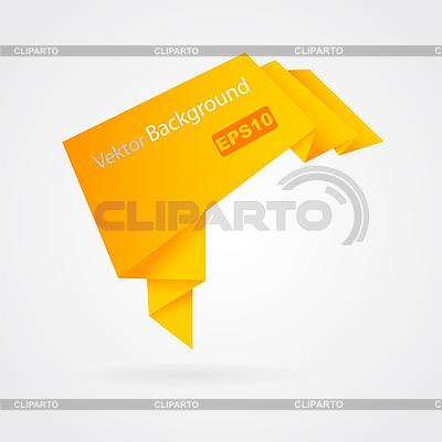 Orangefarbenes Origami | Stock Vektorgrafik |ID 3134053