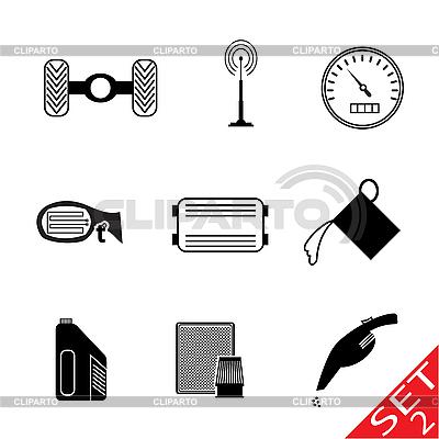 Car Parts icon set | Stock Vector Graphics |ID 3161484