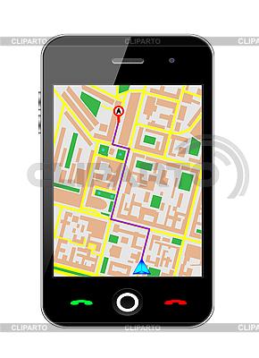 GPS와 핸드폰 | 벡터 클립 아트 |ID 3207902