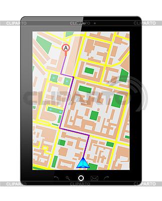 Tablet PC z GPS | Klipart wektorowy |ID 3207906