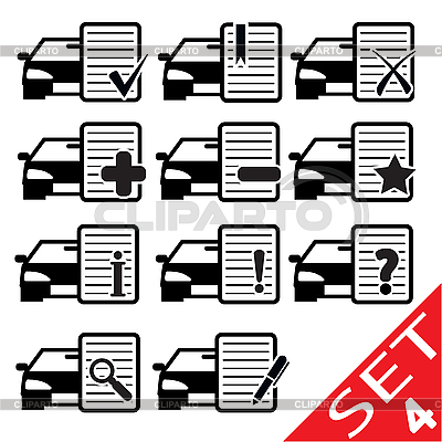 Car Web icons   Stock Vector Graphics  ID 3207912
