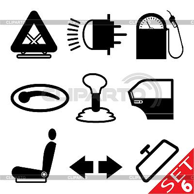 Część zestaw Car icon | Klipart wektorowy |ID 3207916