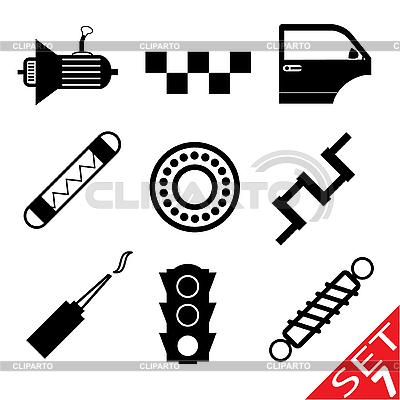 Część zestaw Car icon   Klipart wektorowy  ID 3207918