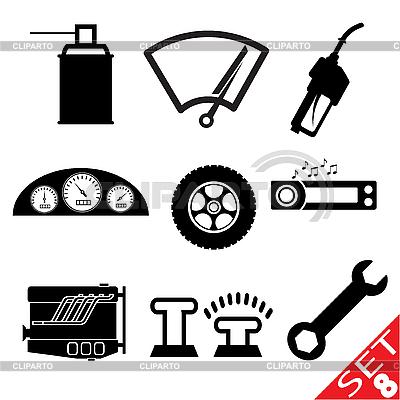 Set von Icons mit Auto-Teilen | Stock Vektorgrafik |ID 3207920