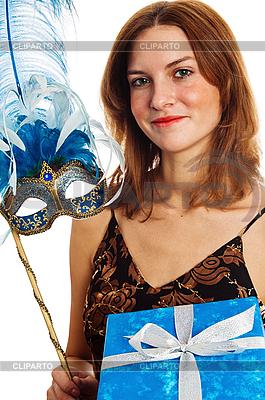Junge Frau in einer Karneval-Maske | Foto mit hoher Auflösung |ID 3133717