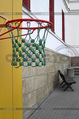 Basketball hoop in the empty school yard | High resolution stock photo |ID 3133951