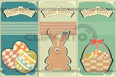 Basket of Easter Eggs and Bunny | Stock Vector Graphics |ID 3145189