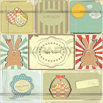 Easter cards in vintage style   Stock Vector Graphics  ID 3147343