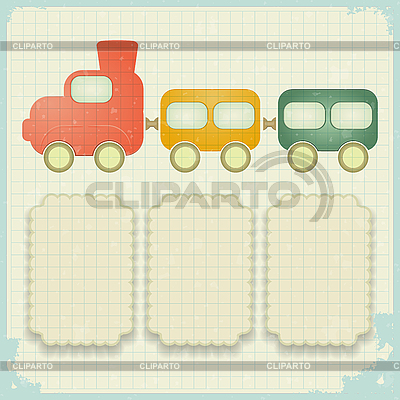 Retro background with toy train | Stock Vector Graphics |ID 3156014