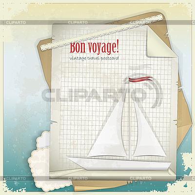 葡萄酒旅游明信片   向量插图  ID 3176809