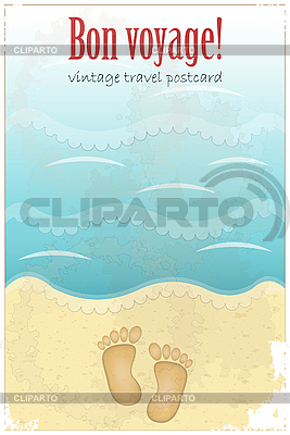 Footprints in sand at the beach | Stock Vector Graphics |ID 3178232