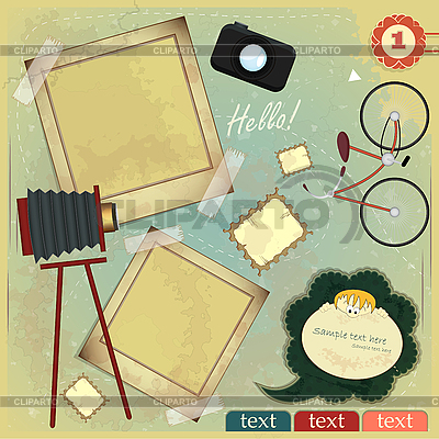 Vintage card with scrapbook elements | Stock Vector Graphics |ID 3190229
