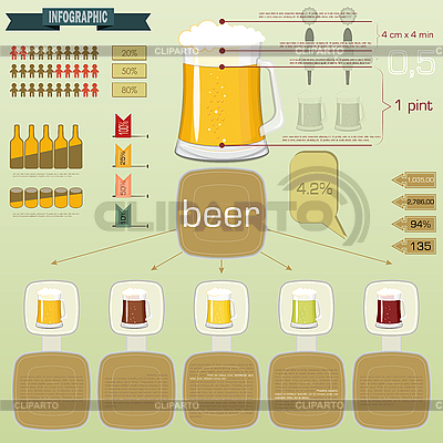 Vintage infographics set - beer icons | Stock Vector Graphics |ID 3209937