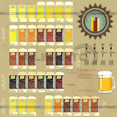 Vintage infographics set - beer icons | Stock Vector Graphics |ID 3235155