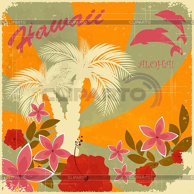 Vintage Hawaiian postcard | Stock Vector Graphics |ID 3252930