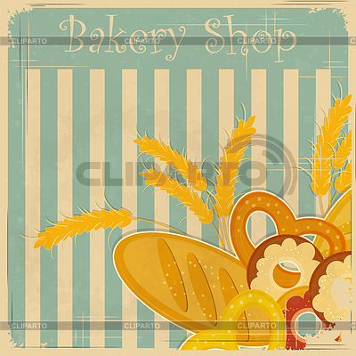Vintage cover menu for Bakery | Stock Vector Graphics |ID 3271110