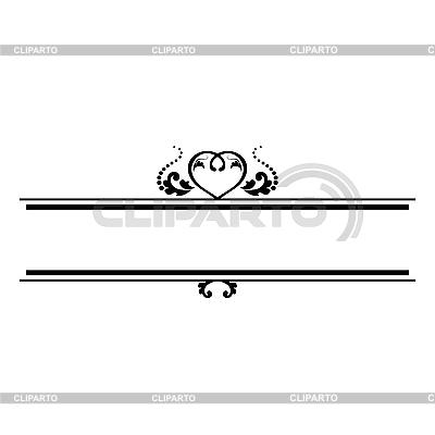 Ornamentales Muster mit Herz | Stock Vektorgrafik |ID 3141822