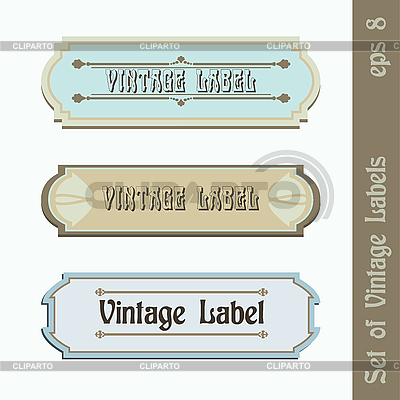 Set von Vintage-Labels | Stock Vektorgrafik |ID 3161821