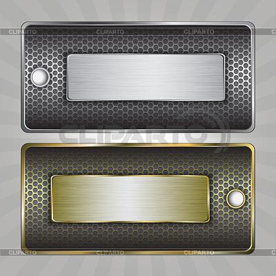 Metal badges | Klipart wektorowy |ID 3352982