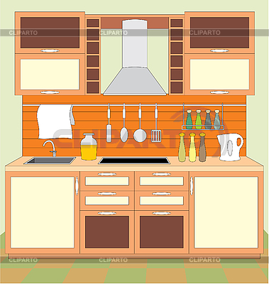 Kitchen cabinet clipart - Kitchen Furniture Serie Of High Quality Graphics Cliparto