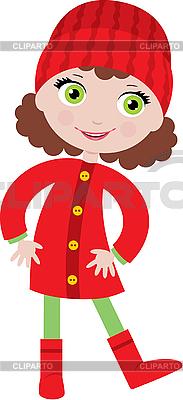 Little girl in coat   Stock Vector Graphics  ID 3142956