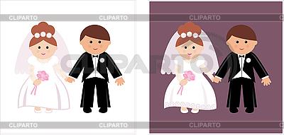 Свадебная пара клипарт