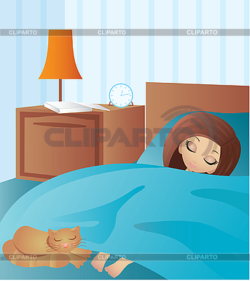 Woman cartoon sleeps | Stock Vector Graphics |ID 3143188