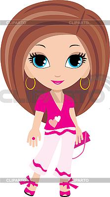 Мультяшная девушка | Векторный клипарт |ID 3154774