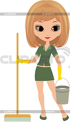 Girl the cleaner | Stock Vector Graphics |ID 3154898