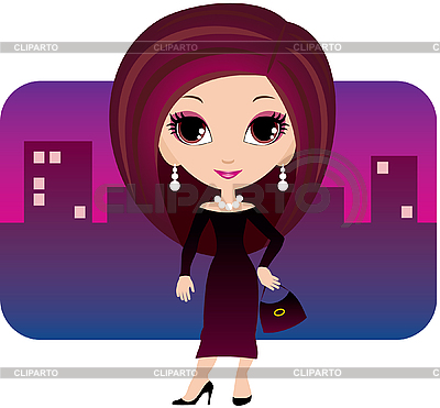 Young woman in city | Stock Vector Graphics |ID 3154908