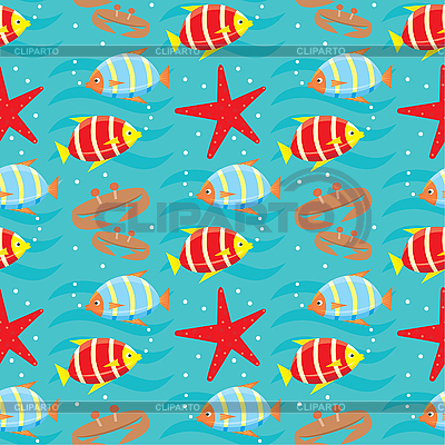 Seamless fishes pattern   Stock Vector Graphics  ID 3166143