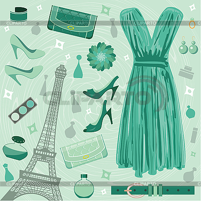 Paris fashion set | Stock Vector Graphics |ID 3167572