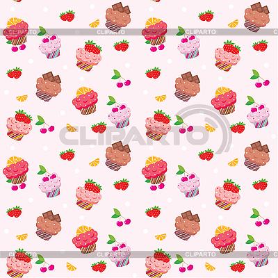 Seamless cupcake pattern | Stock Vector Graphics |ID 3167584