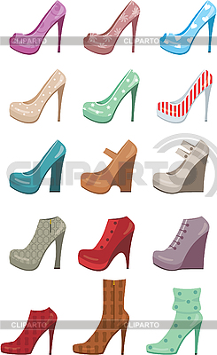 Female shoes set | Stock Vector Graphics |ID 3167595